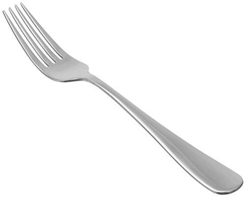 Amazon Basics - Forchette da tavola in acciaio inox con bordo arrotondato, confezione da 12 pezzi