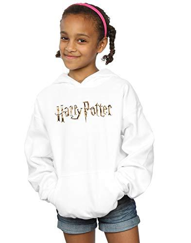 Harry Potter Niñas Full Colour Logo Capucha Blanco 9-11 Years