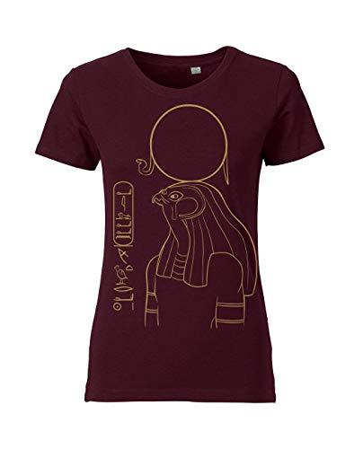 Sonnengott Ägypten Shirt personalisiert mit Wunschnamen in Hieroglyphen für Damen