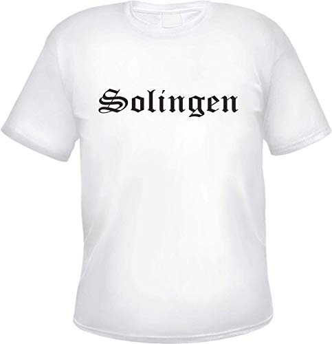Solingen Camiseta Hombre - Alemán Antiguo - Camiseta - Blanco, 5XL
