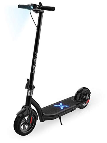 Hover-1 Alpha Electric Kick Scooter Foldable and Portable with 10 inch Air-Filled Tires- Long Range Commuter Scooter 450W Motor, Black, One Size