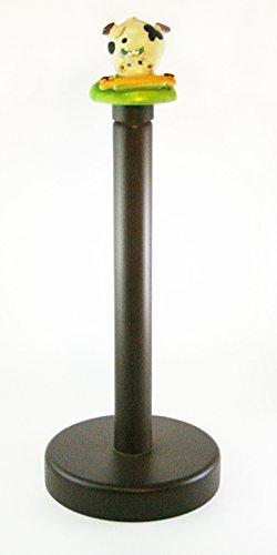 Paul Clear Koe Alice Keukenrolhouder met Rolling Pin, Hout/marmoresina, Multi kleuren, 13 x 13 x 33 cm