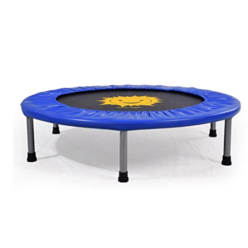 Buy Discount HTDZDX Trampoline (Blue) Indoor Family Trampoline Adult Fitness Family Children Trampol...