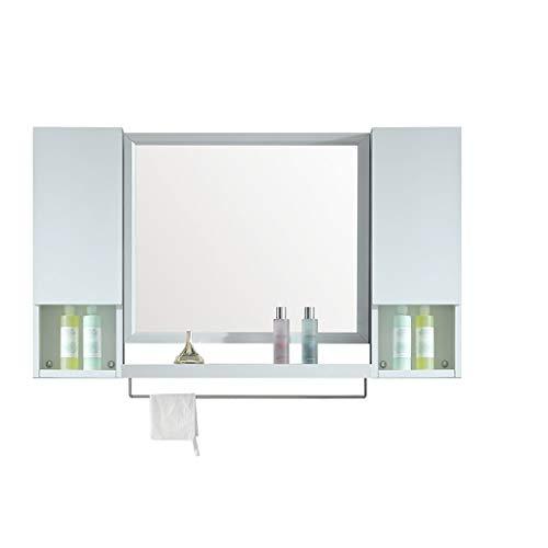 HSRG Badkamer Wandkast Dubbele Deur Opslag Organisator met Handdoek Bars en spiegel Wandmontage Kast Badkamer Medicine Kabinet voor Keuken