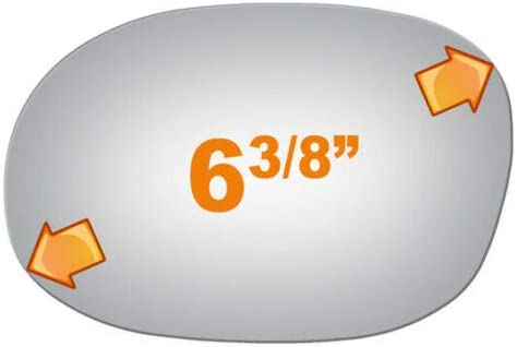 2881 Driver OFFicial Side Manual Mirror Glass Neon Ne Dodge ...