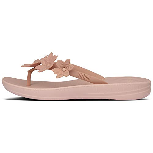 FitFlop iQushion Floral Flip-Flops, Dusty Pink, Size 8