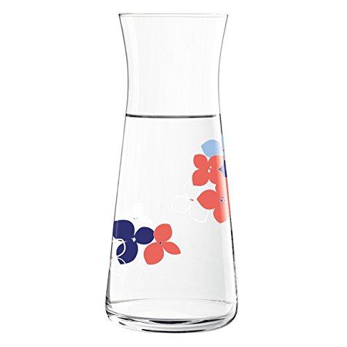 Ritzenhoff Daisy Glaskaraffe, Glas, grau/blau/rot, 9.8 cm