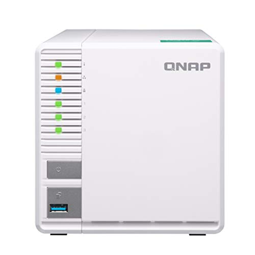 "QNAP TS-328-US QNAP 3-Bay Personal Cloud NAS, Ideal for RAID5 Storage. ARM Quad-core 1.4GHz, 2GB DDR4 RAM, 2 x Gigabit LAN, 2.5""/3.5"" SATA HDD (Hot-swappable)"