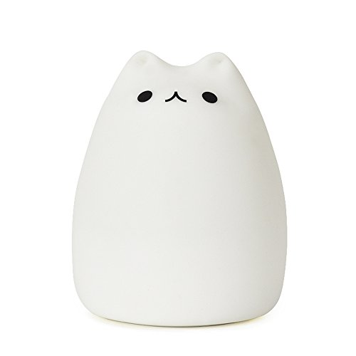 CUTE KITTY NIGHT LIGHT, GoLine Gifts for Women Teen Girls Baby,Night Lights for Kids Bedroom, Cute Christmas Kitty Silicone Nightlights for Children Toddler.(MULTICOLOR LIGHT)