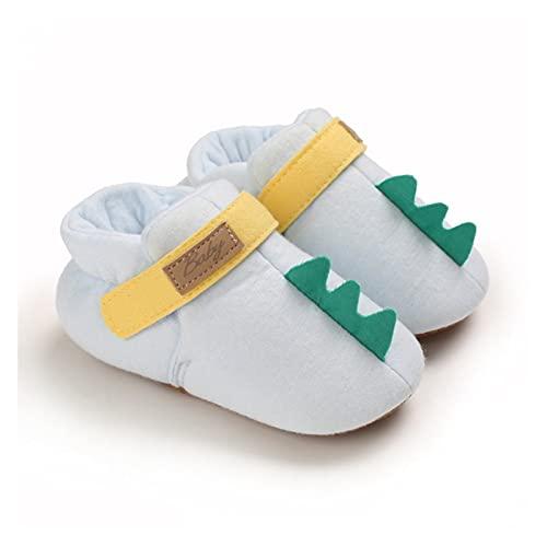 FURONGWANG6777BB Newborn Baby Girls Boys Cuna Zapatos Niños Dibujos Animados Soft Algodón Cálido Bebé Zapatos Otoño Invierno (Color : Blue, Size : 6-12 Months)