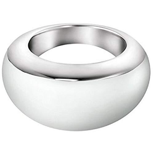 Calvin Klein Anillo blanco brillante tamaño 5 KJ51AR010305