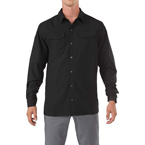 5.11 Herren Freedom Flex gewebtes Langarmshirt, Schwarz, Größe XL