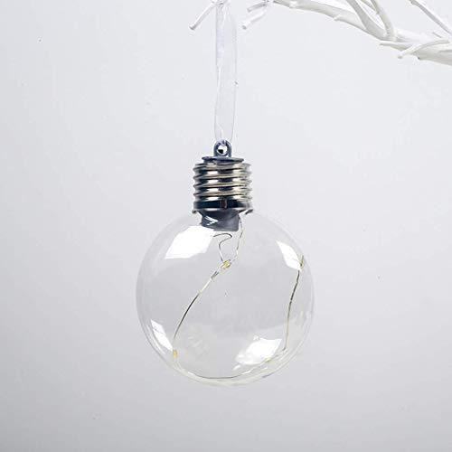 Xiongz Bola de Navidad fiesta árbol de Navidad LED bombilla decoraciones lámpara luces colgante ornamento personalizado árbol Navidad ornamento (color: A)