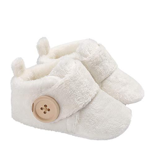 Morbuy Baby Künstliche Flusen Schuhe Babyschuhe Neugeborene Kleinkind Weiche Alleinige Anti-Rutsch Krabbelschuhe Wanderer Schuhe (11cm / 0-6 Monate, Weiß)