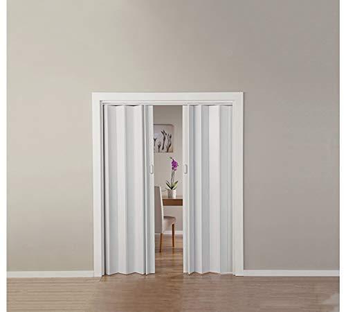With Oak - Puerta doble efecto plegable, color blanco...