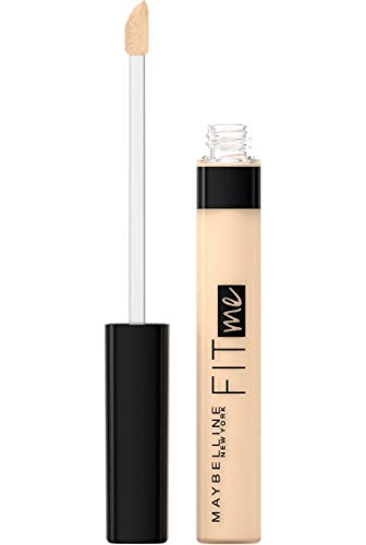 Maybelline New York, Corrector de Ojeras e Imperfecciones Fit Me, Todo Tipo de Pieles, 20 Sand, 6,8 ml