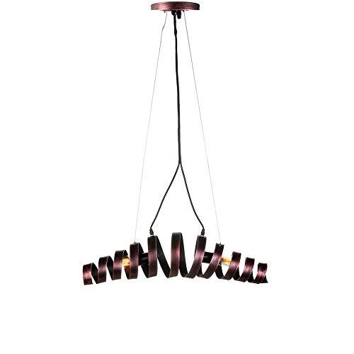 CUIX Vintage Pendellampe 2-Flammige Schmiedeeisen Metall Einzigartige Form Kronleuchter für Esszimmer Zimmer Wohnzimmer Küche Enthält Keine Glühbirne