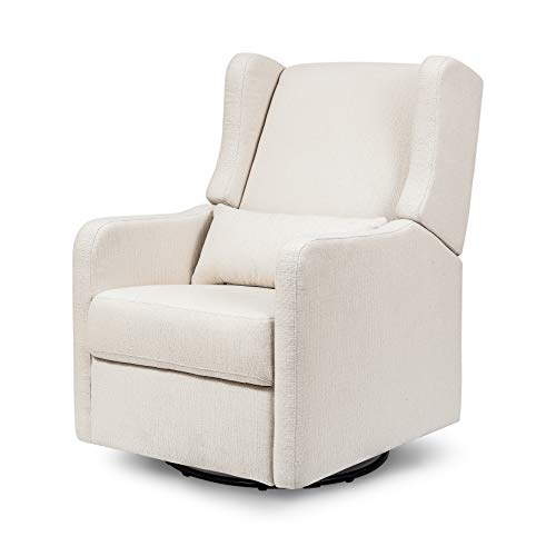 Carter's by Davinci Arlo Recliner and Swivel Glider in Cream Linen | Water Repellent and Stain Resistant Fabric