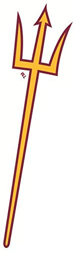 9 Inch ASU Trident Logo Decal Pitchfork Arizona State University Sun Devils AZ Removable Wall Sticker Art NCAA Home Room Decor 2 by 8 1/2 Inches