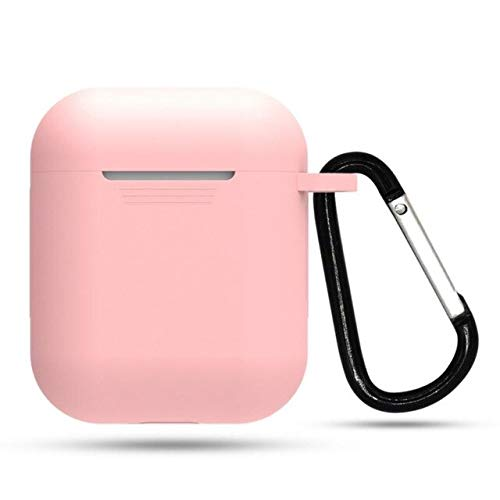 HOULAI Funda de silicona a prueba de golpes para Apple compatible con Airpods Caso de la etiqueta engomada Bluetooth Case Para Apple Compatible con Airpods Accesorios para auriculares