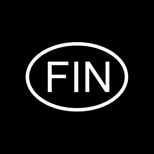 A/X Sticker de Carro 14,2 CM * 9,7 CM Fin Finlandia CÓDIGO DE PAÍS Oval Pegatina DE Coche CALCOMANÍA DE Vinilo Negro Plata C10-01202Plata