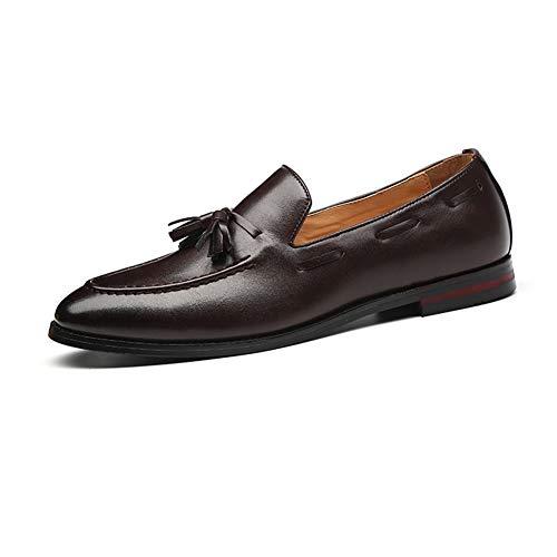 NXY De los Hombres Cuero Borla Mocasín Inteligente Plano Ponerse Comodidad Casual Zapatos