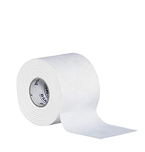 Strappal Zinc Oxide Band, Easy Träne athletischen Sport-Tape, Stark Starrer Umreifungsband für Sportverletzungen und Unterstützung, hypoallergen, starke Haftung, Conforming, 4 cm x 10 m, Weiß