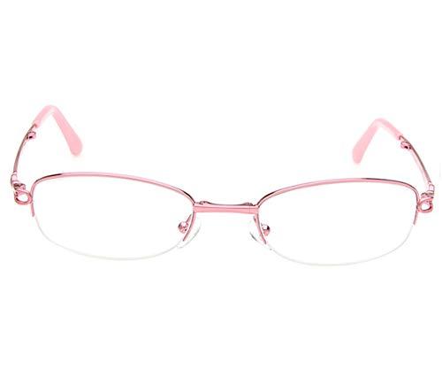 QKDSA ultralichte opvouwbare, draagbare leesbril, anti-vermoeidheids-HD-harslenzen, comfortabele mode voor mannen en vrouwen, brede bril +3.5X roze