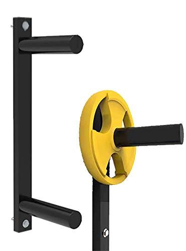 Olympic Weight Tree Plate Rack, 2-Zoll-Langhantel-Aufbewahrung 2/3/4-Lagen, Wand-Hantelhalter Gewichtsständer Metallstahl für Heim-Fitnessstudio oder Garage