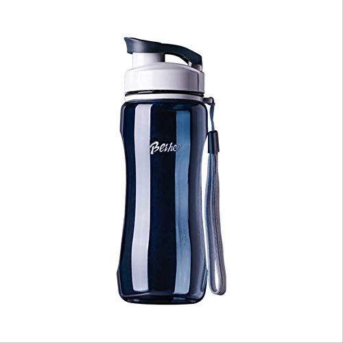 Generic Brands Bouteille d'eau de sport en plastique pour sports Théière portable 53 g et 680 g 720ml bleu foncé