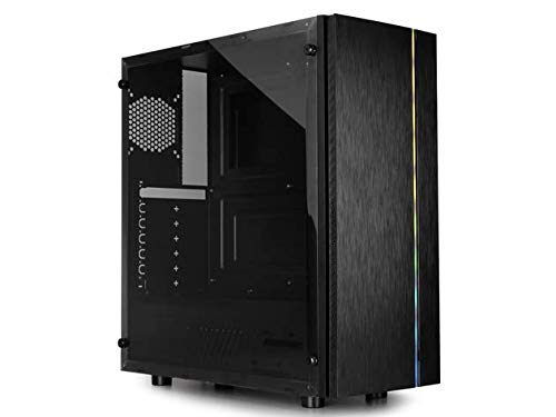 Raidmax Blazar ATX Mid Tower PC Gaming Computer Case with Brushed Front Panel ARGB LED Strip