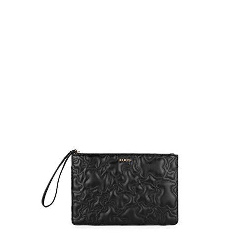 Tous Clutch K Capitone, Cartera de Mano para Mujer, (Negro 695900278), 27x18x1.5 cm (W x H x L)