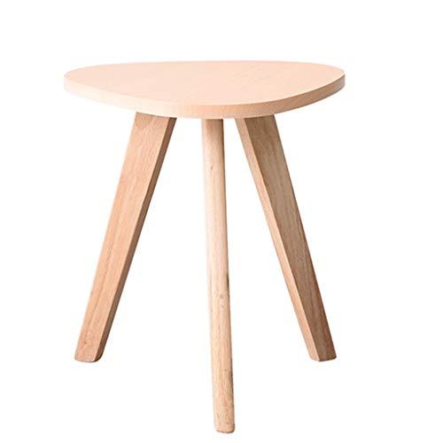 Tables basses Petite en Bois Ronde Petite Chambre Petit Appartement Balcon Mini Table Salon créative