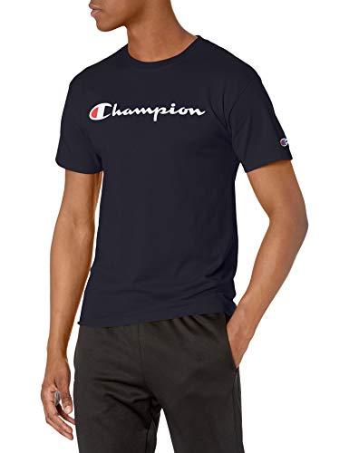 Champion Men's Classic Jersey T-Shirt, White/Navy Script, XX-Large
