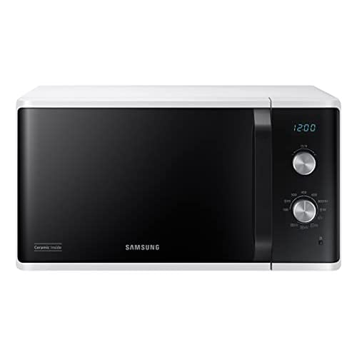 Samsung Microonde MG23K3614AW Forno Microonde Grill, 23 Litri, 800 W, Grill 1100 W, Bianco