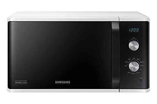 Samsung Microonde MG23K3614AW - Horno microondas Grill, 23 litros, 800 W, grill 1100 W, blanco