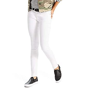 Levi s Women s 711 Skinny Jeans Soft Clean White 30  US 10  M