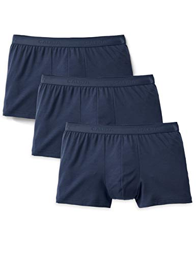 Calida Herren Natural Benefit Boxershorts (3er pack), Blau (indigo mood 509), Small (Herstellergröße: S)