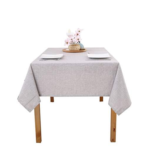 Xingkee Tischdecke Wasserabweisend Tischdecke Tischtücher Silber 130 * 160 cm