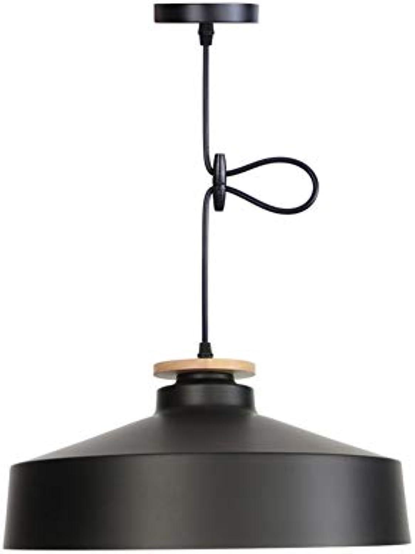 SXFYHXY Kronleuchter LED Modern Minimalist Single Head Adjustable Wrought Iron Ceiling Lampe für Küche Living Room Bedroom Cafe Bar Bekleidung Store Beleuchtung,schwarz35x16cm