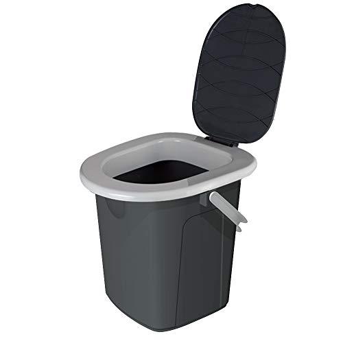 BRANQ viaggio campeggio WC Toilette, Grigio, M (22 litri)