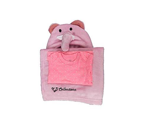 Toalla de baño con capucha para bebé extremadamente suave y absorbente, ideal para recién nacidos y niños, excelente (rosa).