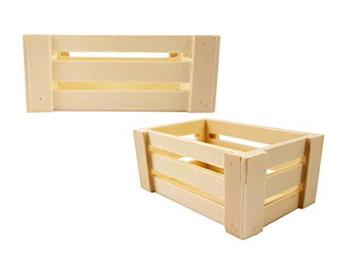 10 mini cassettine della frutta legno naturale porta confetti - segnaposto (piccola 892X022)