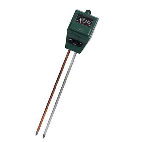 LjzlSxMF Contador de Prueba del Suelo, pH del Suelo de la Planta Metros Medidor de Humedad de Cabeza Cuadrada Detector de Suciedad 3-en-1 de Jardinería en Planta de Cubierta al Aire Libre Cuidado