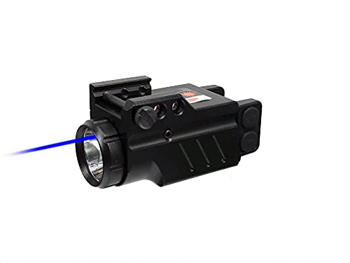 HILIGHT Enforcer Series Tactical LED Flashlight and Green Laser Sight or Blue Laser Sight | Green or Blue Dot Sight for Pistol │ Airsoft Gun Lasers │ Weaver or Picatinny Rail