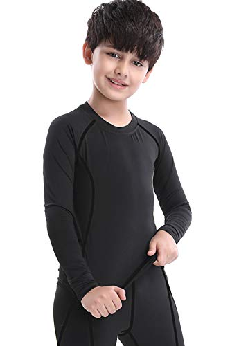 LNJLVI Boys Compression Short Sleeve Shirts Sports Soccer Base Layer Tops
