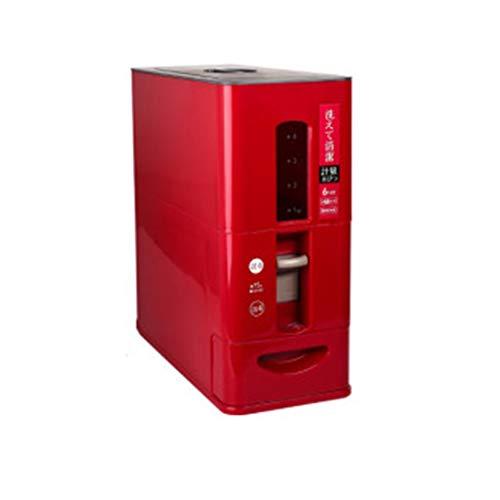 Seau de dosage de riz/joint étanche aux insectes et à l'humidité/sortie de riz automatique/boîte de rangement multifonction (Color : Red, Size : 12kg)