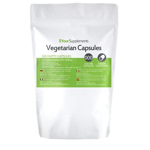Lege vegetarische capsules | Maat 000 (100)
