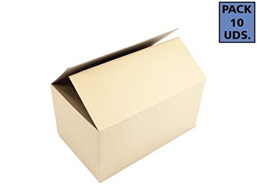 Pack de 10 Cajas Mudanzas Grandes   Medidas 50x30x30 cm en Material Cartón Doble   Cajas Mudanzas
