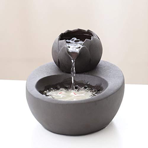 CWYSJ Fuente de Agua de cerámica Mascotas, Fuente Inteligente de Agua, Gato y el Perro Potable, Agua de la Bomba silenciosa, Antideslizante